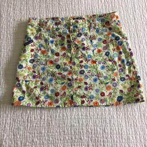 Dolce & Gabbana D &G cotton floral mini skirt